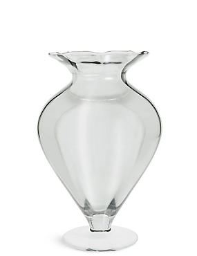 Wide Pretty Splayed Vase, , catlanding