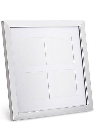 4 Aperture Wood Frame 4 x 4cm (1.5 X 1.5inch), SILVER, catlanding