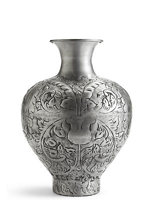 Large Embossed Vase, , catlanding