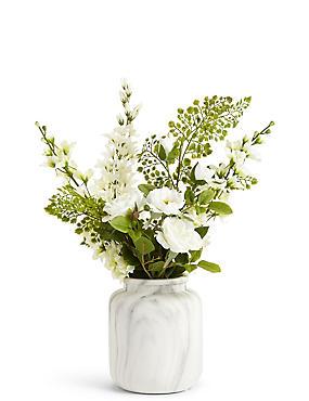 Rittersporn und Rose in Vase, , catlanding