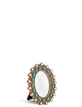 Cadre photo orné de perles 6 x 9cm, , catlanding