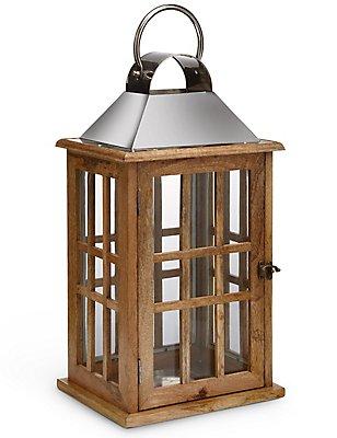 Lanterne classique à carreaux de fenêtre, NATUREL, catlanding