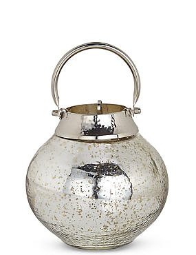 Mercury Small Glass & Metal Lantern, , catlanding