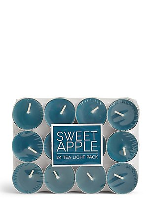 Sweet Apple 24 Scented Tea Lights, , catlanding