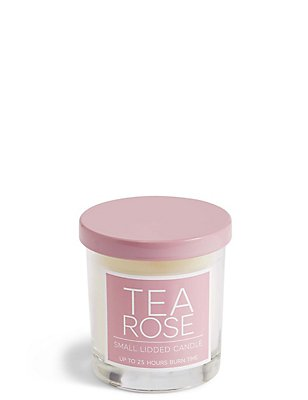 Rose Small Lidded Candle, , catlanding