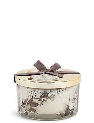 Sicilian Fig 3 Wick Gift Scented Candle, , catlanding