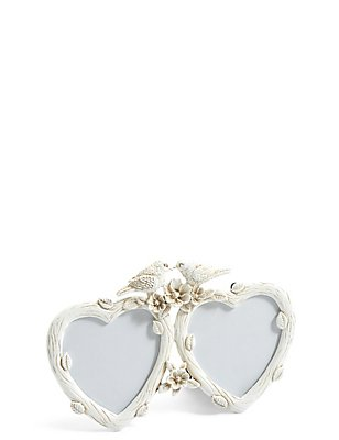Double Heart Rose Top Photo Frame 8 x 8cm (3 x 3inch), , catlanding