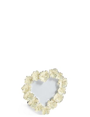 Enamel Flower Heart Photo Frame 8 x 8cm (3 x 3inch), , catlanding