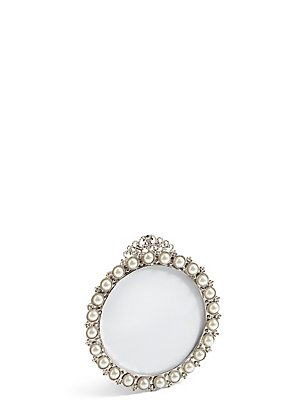 Pearl Round Photo Frame 8 x 8cm (3 x 3inch), , catlanding