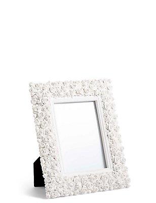 Rose Photo Frame 12 x 18cm (5 x 7inch), WHITE, catlanding