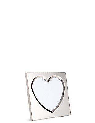 Bevelled Heart Photo Frame 10 x 10cm (4 x 4inch), , catlanding