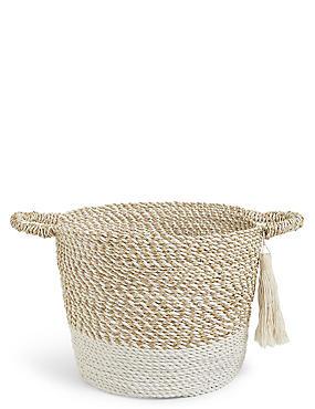Raffia & Seagrass Basket, , catlanding