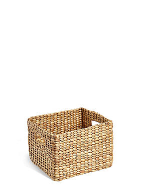 Water Hyacinth Small Storage Basket, , catlanding