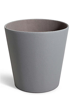 Faux Leather Waste Bin, , catlanding