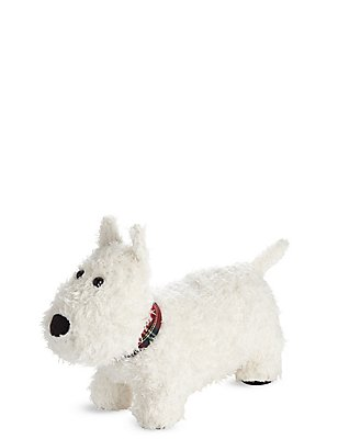 Cale-porte en forme de Scottish terrier, BLANC ASSORTI, catlanding