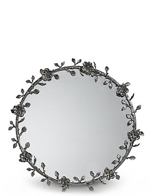 Antique Wreath Wall Mirror, , catlanding