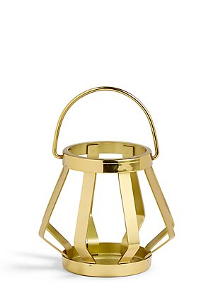 Metal Banded Small Lantern, , catlanding
