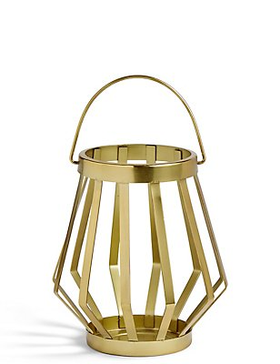 Metal Banded Medium Lantern, , catlanding