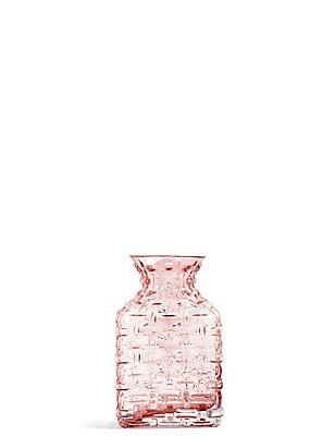 Luna Pressed Vase, PINK, catlanding