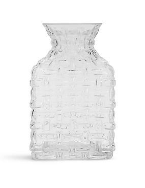 Luna Pressed Vase, CLEAR, catlanding