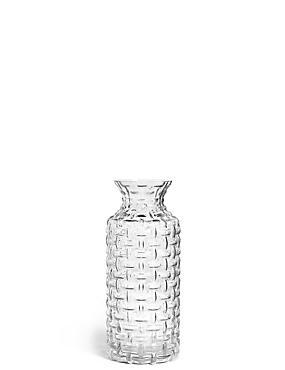 Eden Pressed Vase, CLEAR, catlanding