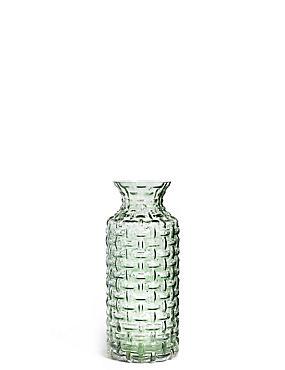 Eden Pressed Vase, GREEN, catlanding