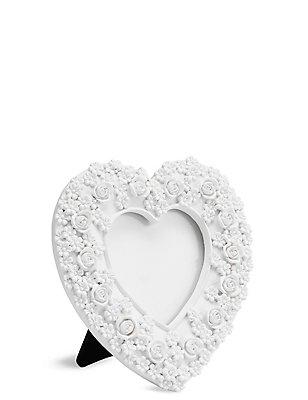 Fotolijst hart met rozen (3,5 x 3,5 cm), WIT, catlanding