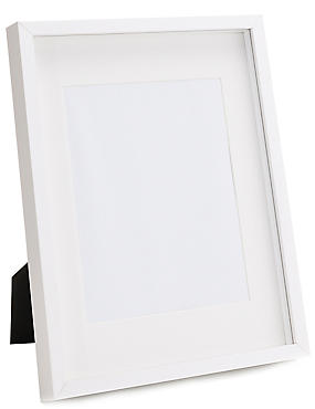 Solid Wood Photo Frame 20 x 25cm (8 x 10inch), WHITE, catlanding