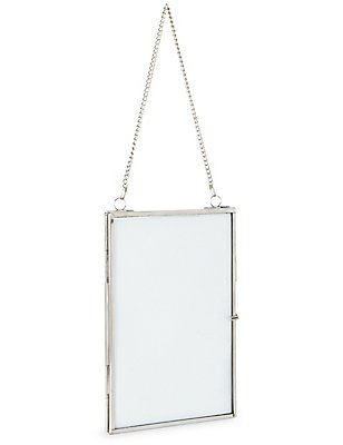 Hanging Photo Frame 13 x 18cm (5 x 7inch), SILVER, catlanding