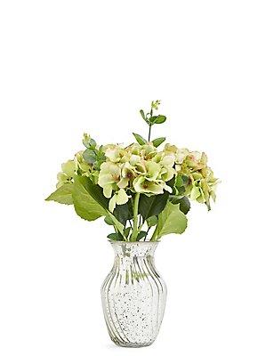 Hortensien in Vase mit Quecksilbereffekt, , catlanding