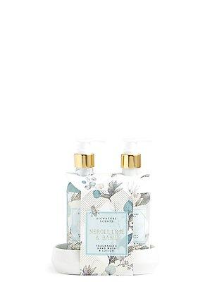 Crème et savon pour les mains parfum néroli, citron vert et basilic, , catlanding