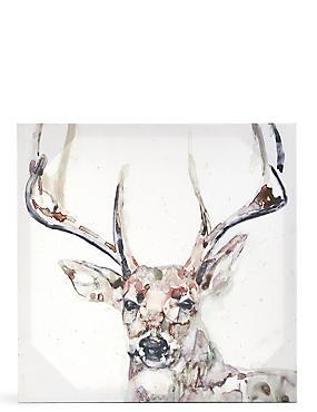 Jennifer Goldberger Majestic Stag Canvas Wall Art, , catlanding