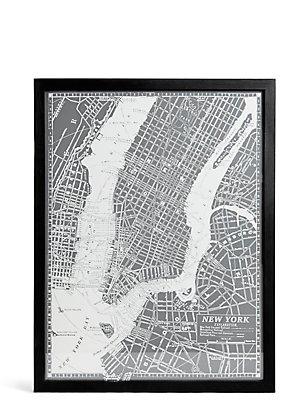 Vintage New York Map Wall Art, , catlanding