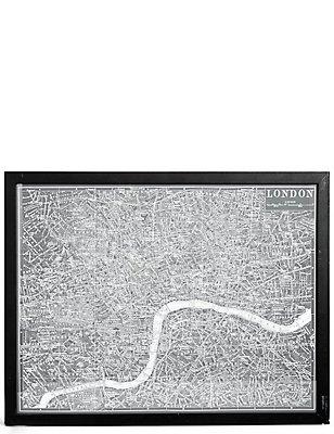 """Wandschmuck – Vintagekarte """"London"""", , catlanding"""