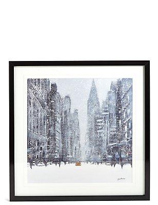Jon Baker - Muurdecoratie met besneeuwd New York, , catlanding