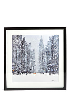 Jon Baker Snowy New York Wall Art, , catlanding