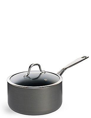 Chef Hard Anodised 20Cm Saucepan, , catlanding