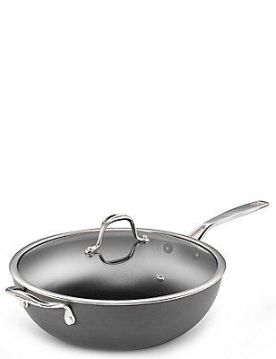 Chef - Hard geanodiseerde wokpan van 30 cm, , catlanding