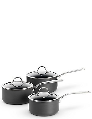 Chef Hard Anodised 3 Piece Pan Set, , catlanding
