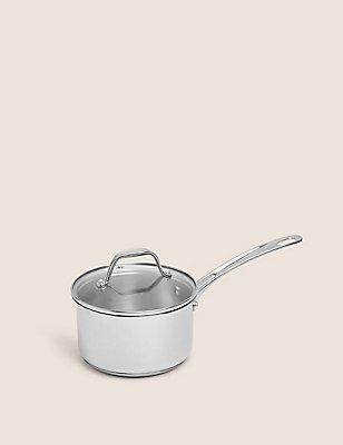 16cm Stainless Steel Saucepan, , catlanding