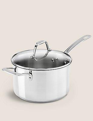 20cm Stainless Steel Saucepan, , catlanding