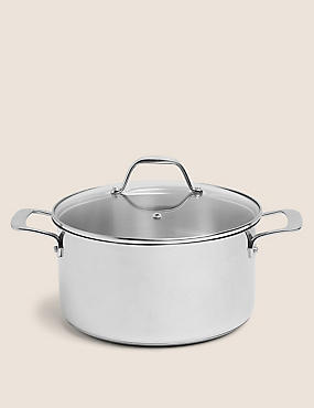 24cm Stainless Steel Stockpot, , catlanding