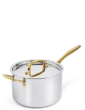 Chef– Casserole triple épaisseur 20cm, ARGENT ASSORTI, catlanding