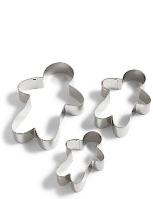 Set of 3 Gingerbread Men Cutters, , catlanding