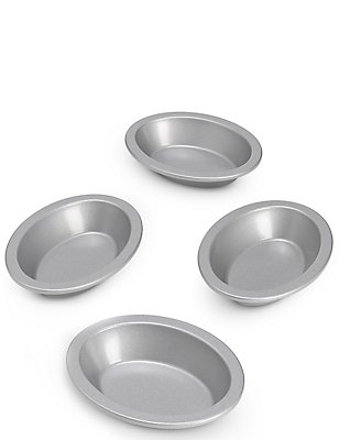 4 Non-Stick Mini Pie Dishes, , catlanding