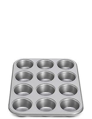 Vorm met antiaanbaklaag voor 12 muffins, , catlanding
