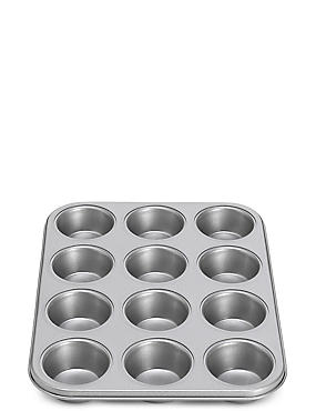 12 Cup Non-Stick Muffin Tray, , catlanding