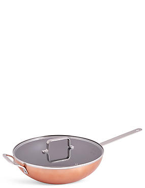 Loft Copper Effect Wok, , catlanding