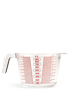 1 Litre Glass Measuring Jug, , catlanding