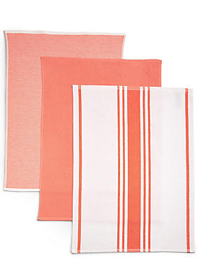 3 Pack Assorted Hand Towels, CORAL, catlanding